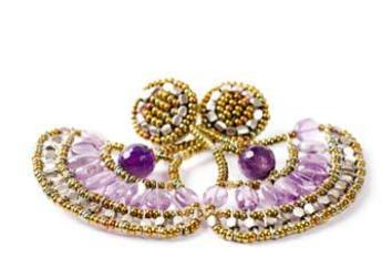 Ziio earrings made with amethysts