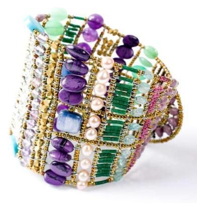 Italian statement  bracelet by Ziio in a style called