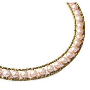 Classic pink pearl necklace by Ziio